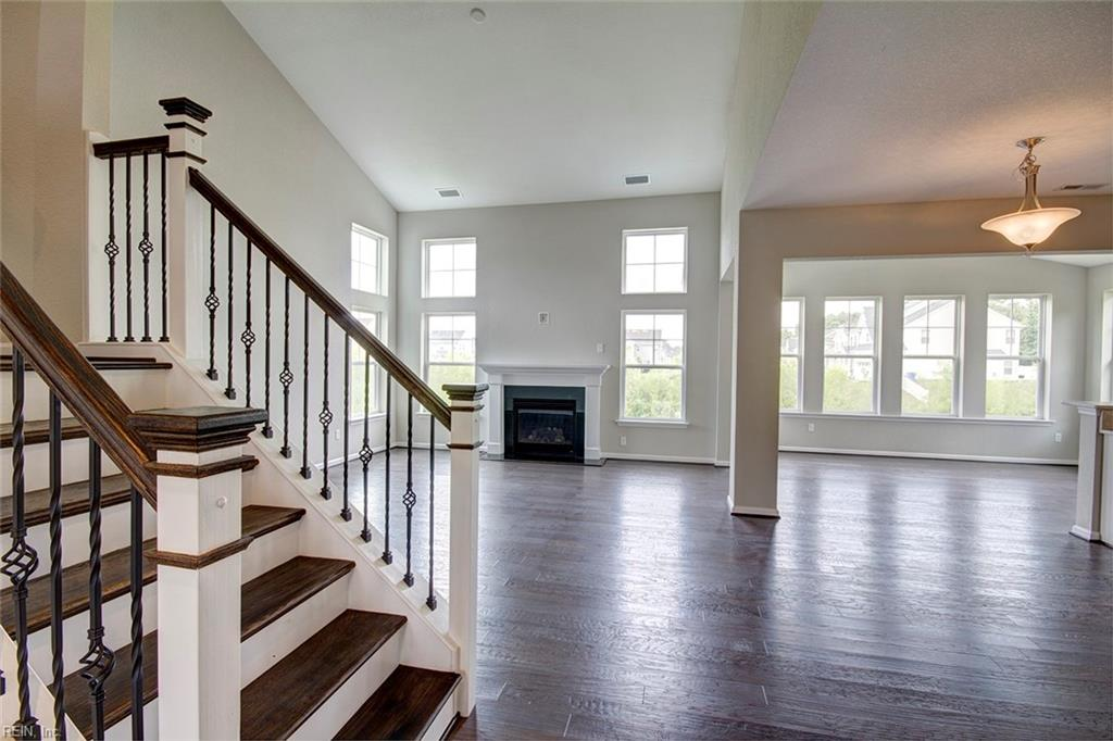 Stairs & Family Room