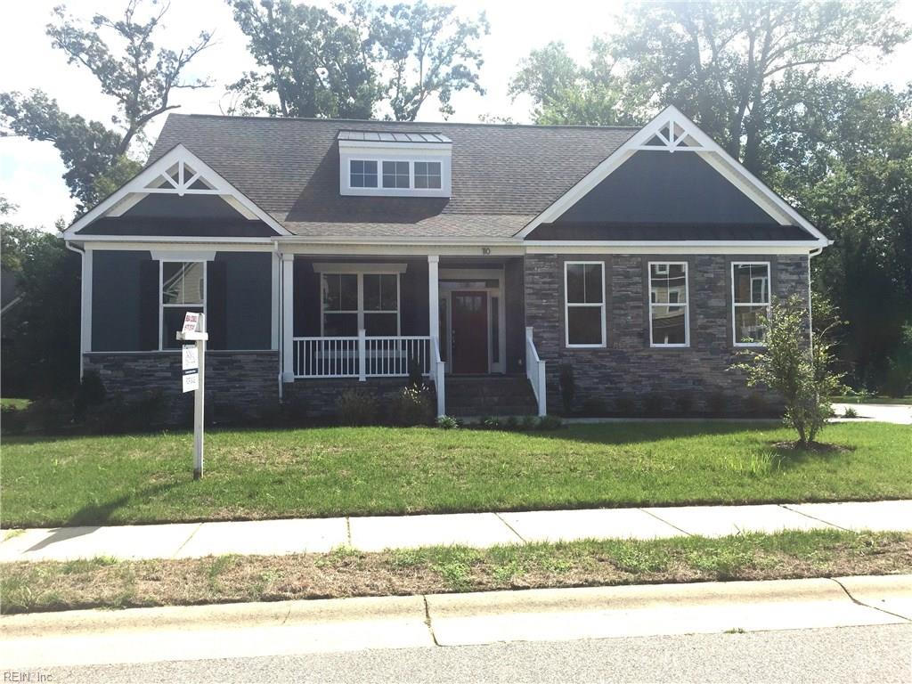 Craftsman inspired home with 1st floor master and open and inviting floor plan.