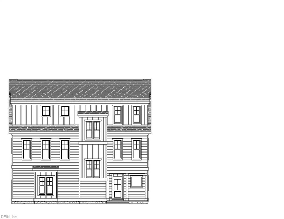 Front of the newest floor plan - The Portland - Side load garage - Covered Porch - All Included!