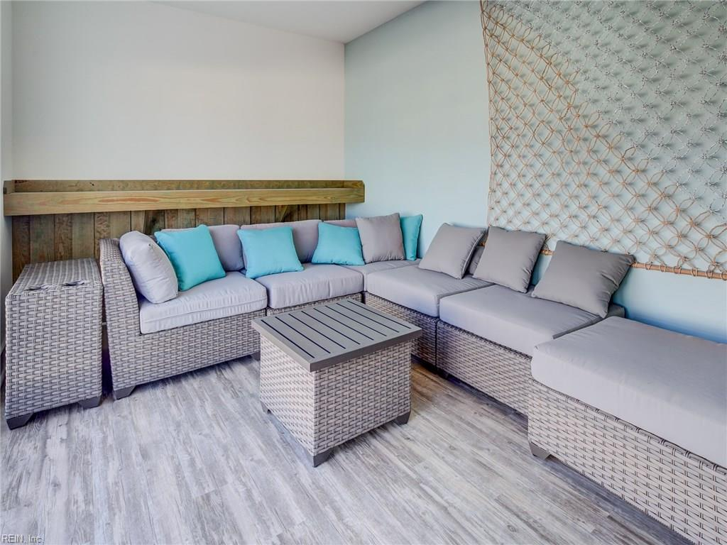 Each Coastal Villas' building has a private rooftop oasis! Complete with two cabanas and outdoor furniture, the rooftop is the place to be in Norfolk!