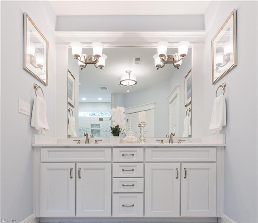 Beautiful master bath with adult height dual vanity