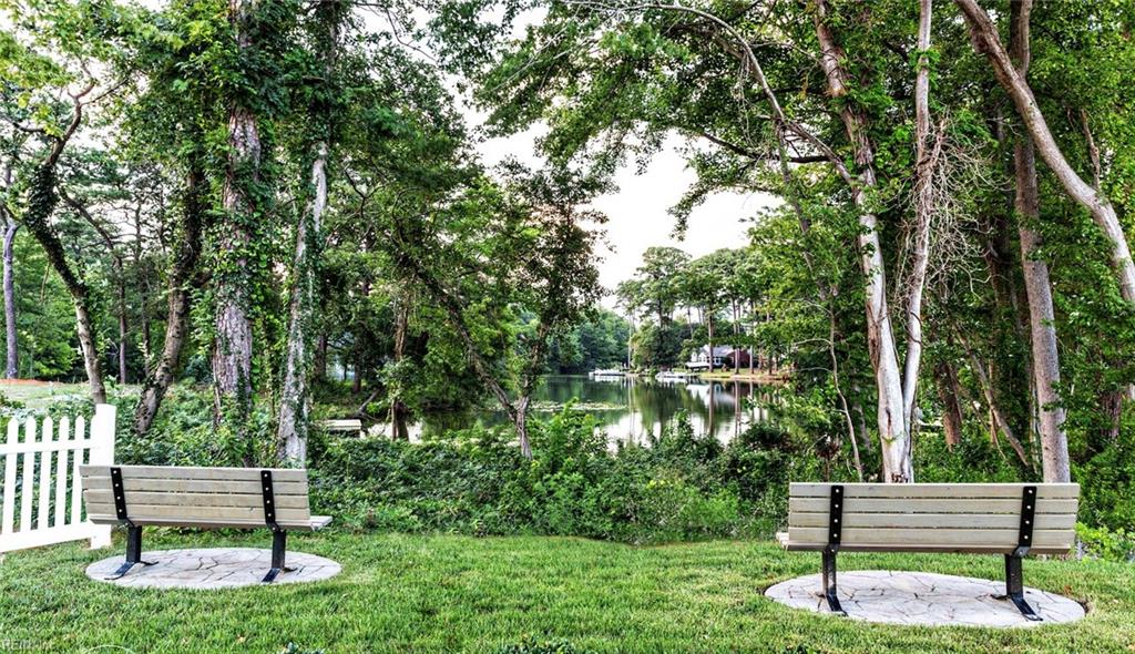 This Lovely lake front park is just one of five private parks in this quaint neighborhood.
