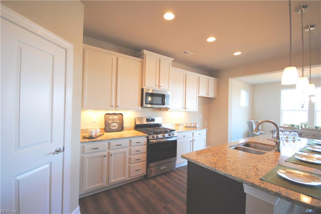 Photo shows painted cabinet, gas range and under cabinet lighting options -  Similar Photo