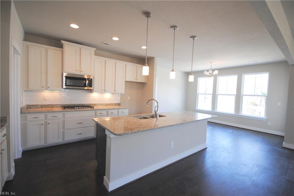 Open kitchen to dining area.