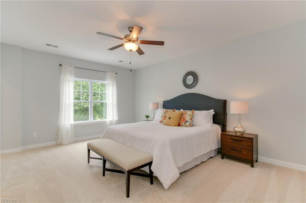 Master bedroom #2 - Both master bedrooms easily accommodate a king sized bed!  Photo shown similar to home being built.