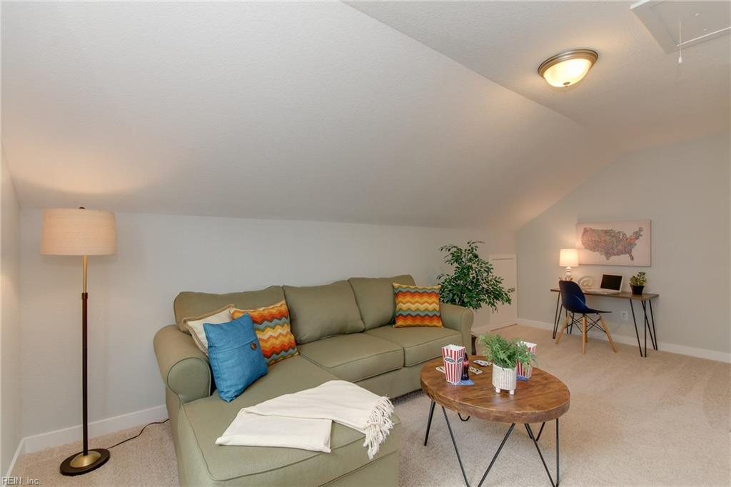 Loft area on 3rd floor. What would you do with this great additional space?  Photo shown similar to home being built.